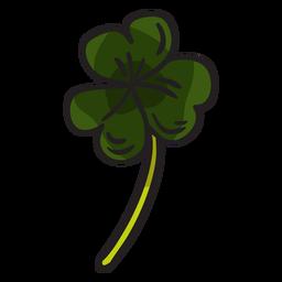 Ilustración de hojas de trébol irlandés trébol
