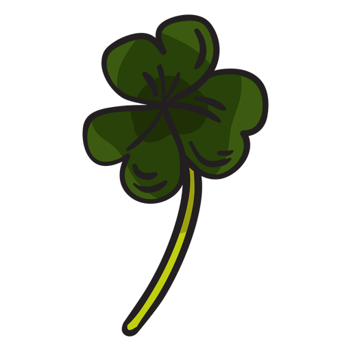 Shamrock clover irish leaves illustration Transparent PNG