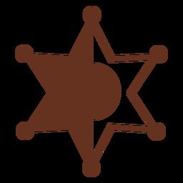 Insignia del sheriff icono del salvaje oeste occidental