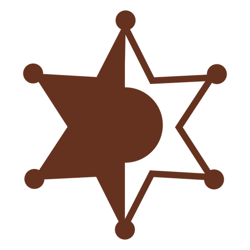 Insignia del sheriff icono del salvaje oeste occidental Transparent PNG