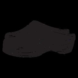 Sapatos tamancos calçado tradicional preto