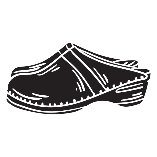 Zapatos zuecos calzado tradicional negro Transparent PNG