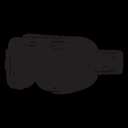 Gafas de esquí para nieve gear negro Transparent PNG