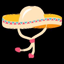 Ilustração tradicional de chapéu mexicano de sombrero