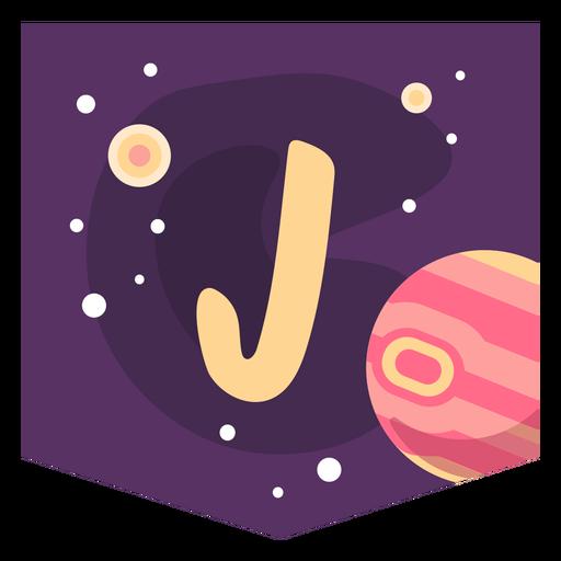 Space alphabet j banner Transparent PNG