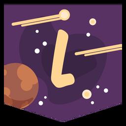 Banner de espacio alfabeto l
