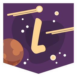 Space alphabet l banner