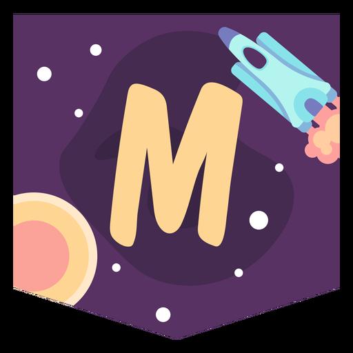 Space alphabet m banner Transparent PNG