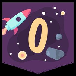 Space alphabet o banner