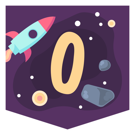 Space alphabet o banner Transparent PNG