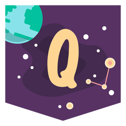 Espaço alfabeto q banner