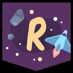 Space alphabet r banner
