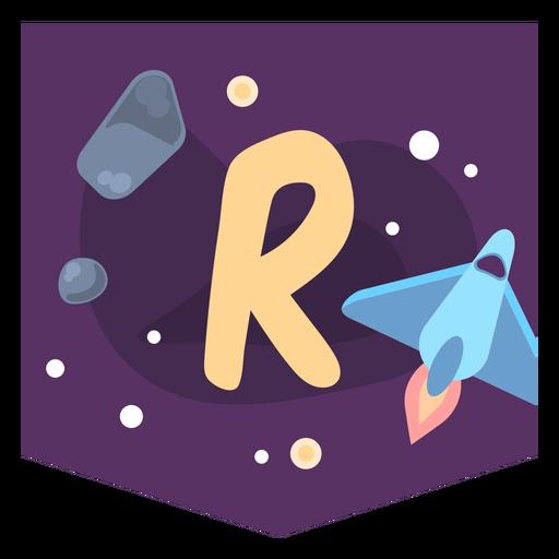 Banner de espacio alfabeto r Transparent PNG