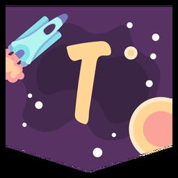 Space alphabet t banner