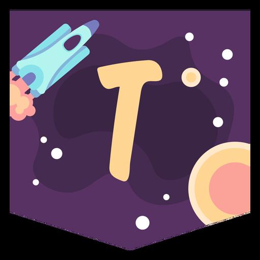 Espacio alfabeto t banner Transparent PNG
