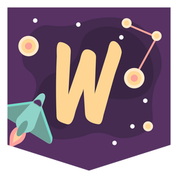 Alfabeto de espaço w banner