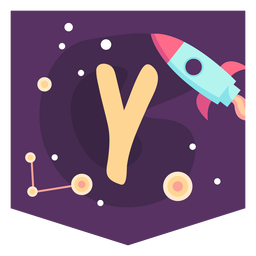 Banner de alfabeto y espacio