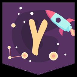 Space alphabet y banner