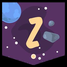 Space alphabet z banner