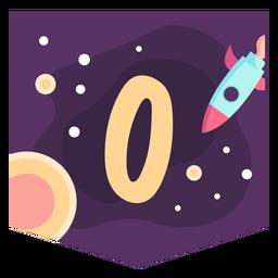 Faixa de número 0 do espaço
