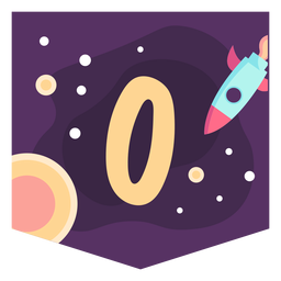 Space number 0 banner