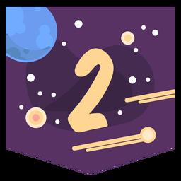Bandeira de número 2 do espaço