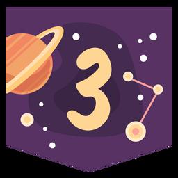 Bandeira de número 3 do espaço
