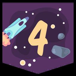 Bandeira de número 4 do espaço