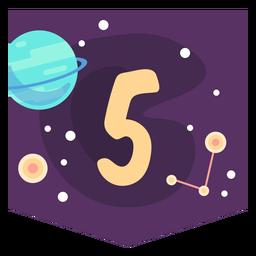 Bandeira de número 5 do espaço