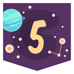 Space number 5 banner