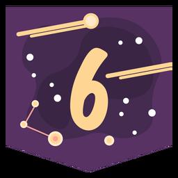 Bandeira de número 6 do espaço