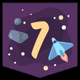 Bandeira de número 7 do espaço