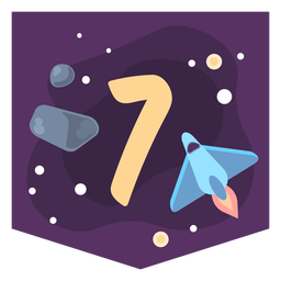 Space number 7 banner