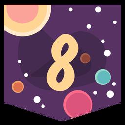 Bandeira de número 8 do espaço