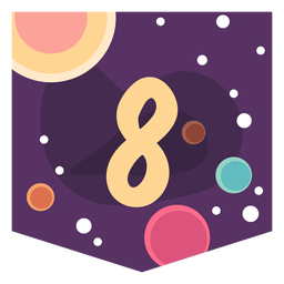 Space number 8 banner