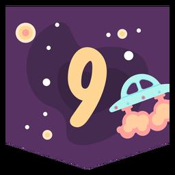 Bandeira de número 9 do espaço