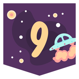 Space number 9 banner