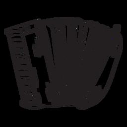 Squeeze box trazo de instrumento de acordeón