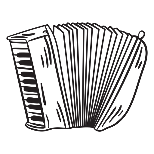 Squeeze box accordion instrument stroke Transparent PNG