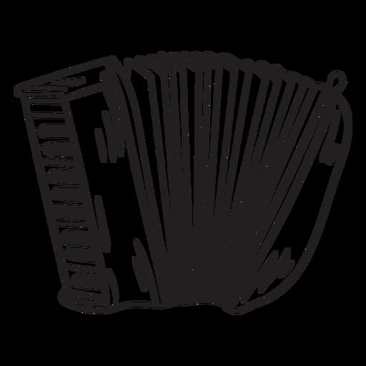 Squeeze box accordion instrument stroke
