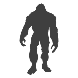Standing bigfoot hairy flat black