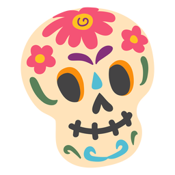 Sugar skull calavera illustration