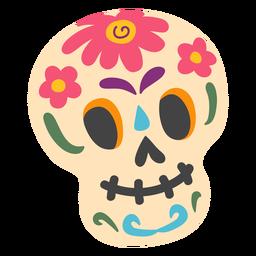 Sugar skull calavera illustration