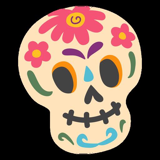 Sugar skull calavera illustration Transparent PNG