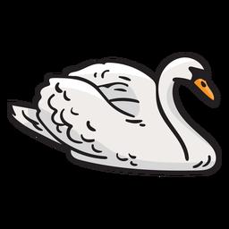 Cisne, pássaro, finland, ilustração