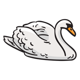 Swan bird finland illustration
