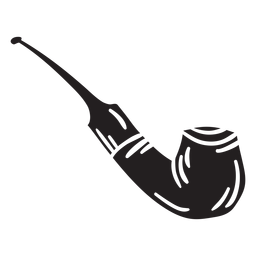 Fumar pipa negra