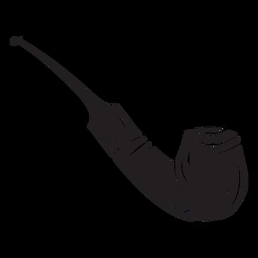 Tobacco smoking pipe black Transparent PNG