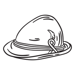 Sombrero tradicional trazo suiza