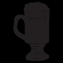 Traditional cocktail irish coffee black